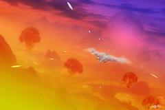 Scape (Christoffer Boman) Tags: future abdz abduzeedoo concept art space spaceship war grade sky red purple landscape alien scifi