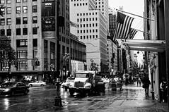 5th avenue Midtown (Leguman vs the Blender) Tags: nyc midtown newyork usa bw street rain