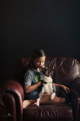 (Rebecca812) Tags: girl child bostonterrier dog love bond friendship happiness childhood chair portrait rebecca812 kiss canon