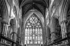 Ripon Cathedral . (wayman2011) Tags: fujifilmx70 lightroom wayman2011 bwlandscapes mono architecture cathedrals religeousbuildings windows historicbuildings northyorkshire ripon uk