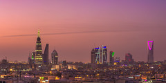 Skyline Riyadh (sidd_photography) Tags: sky city sunset buildings architecture roof cityscape lights view 500px panorama landscapes skyline skyscraper sundown dawn long exposure panoramic photography colorful composition dusk architectural colourful wide angle majestic from above saudi arabia riyadh rooftoppers