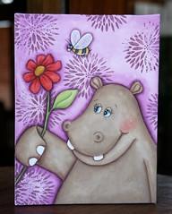 Qd Hipopótamo (Kika 2002) Tags: madeira wood mdc handmade craft artesanato pintura painting hippo hipopotamo lilas