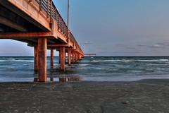 Port Arasnas Pier, Texas (Obi-Ani) Tags: pier texas portaransas molo sea sunset crepuscolo hdr bluehour water gulfcoast