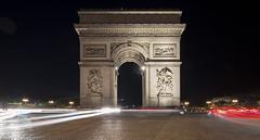 NH0A0227[pano] (michael.soukup) Tags: arcdetriomphe lighttrail lightstreak paris france francais arch champs lyses night