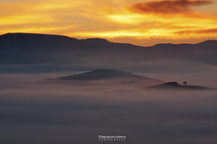 The land of fog (Agrippino Salerno) Tags: sanquiricodorcia fog misty morning mist manfrotto valdorcia tuscany italy canon colors countryside clouds sunrise sun dawn hills sky