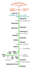 Powderhall Link (the Magnificent Octopus) Tags: map schematic diagram edinburgh path footpath cyclepath