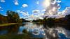 Heavenly Ilumination (scottducey209) Tags: sunburst bridge stanislauscounty river waterscape norcal northerncalifornia nikon d5200 tokina 1116mm ultrawide 28 clouds blueskies california usa westcoast bassobridge tuolumneriver nature vanguard waterfordcalifornia country