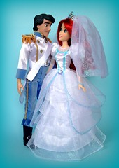 Wedding Bells (honeysuckle jasmine) Tags: disney store prince eric mattel ken little mermaid ariel wedding princess dolls