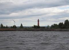 Kronstadt. Fort Kronshlot. Verhniy Nikolaevskiy rear leading light was built in 1857 and rebuilt in 1891. It is still working (leraorsi70) Tags: kronstadt кронштадт маяк lighthouse majakka