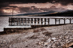 Trefor Pier (Missy Jussy) Tags: pier trefor boardwalk wales gwynedd coast seaside shoreline sky clouds sea beach pebbles rocks canon cannon600d 50mm canon50mm landscape moodylandscape atmosphere