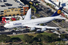 Lufthansa 747-8 D-ABYQ (birrlad) Tags: lax losangeles international airport california usa aircraft aviation airplane airplanes airline airliner airlines airways approach arrival arriving finals landing landed runway