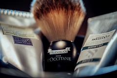 Wet Shaving (koolandgang) Tags: mydailyroutine macromondays wetshaving closeshave brush synte syntheticbadgerbrush plisson loccitanecedreoranger icolonialishavingcreamwithrhubarb nikon105vrmicro nikond700 nikonsb900 nikonsb700