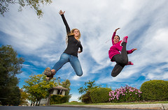 Happy Love to Leap Thursday! (Flickr_Rick) Tags: outside autumn breanne jump jumping jumpology woman athletic strong