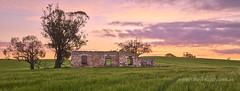 Sunset at the Sandy Creek ruin (Valley Imagery) Tags: southaustralia sunset sandycreek australia green barossavalley barossa ruin rural panorama sony a77ii