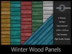 [VT] Winter Wood Panels (VirtualTextures) Tags: textures secondlife wood boards planks panels painted vintage xmas christmas hardwood