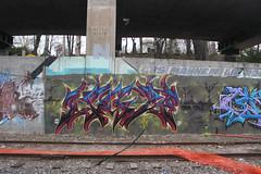 Jag (NJphotograffer) Tags: graffiti graff new jersey nj newark trackside rail railroad jag dna crew