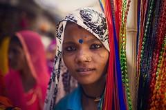 At Pushkar mela (Akilan T) Tags: sigma35mmart sigma canon5dmk3 canon akilanphotography akilan vendor seller woman portrait rajasthan india pushkarmela pushkarfair pushkar cwc561 chennaiweekendclickers cwc