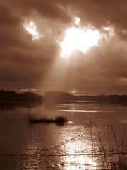 ylisjarvi17 (Kola-apsa) Tags: ylisjrvi muurla salo sepia lake crepuscular rays light landscape