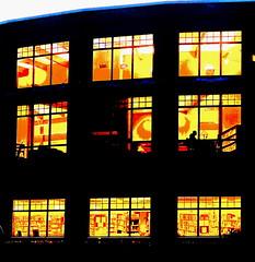 Reading (nelhiebelv) Tags: library delta lansing dusk night