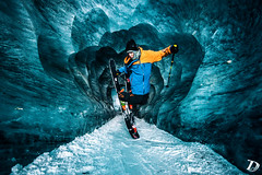 "Sam Favret ""Backyards Project"" behind the scene N1  Damien DESCHAMPS (deschdam6@gmail.com) Tags: freestyle freeride alps glacier ski skiing chamonixmontblanc photography photo action samfavret backyardsproject ice cave icecave damiendeschamps mountains nature adventure movie"
