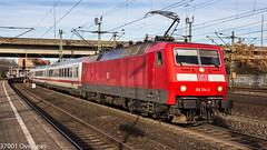 DB 120 134 on IC 2217 at Hamburg Harburg (37001 overseas) Tags: deutschebahn db class120 120134 1201342 hamburg harburg ic2217 stralsund stuttgart
