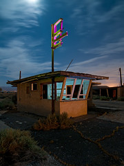 Snack Bar (Noel Kerns) Tags: california abandoned bar night cafe desert diner mojave snack yermo