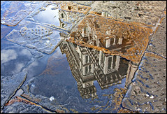 Duomo (Roby_wan_kenoby (the only one)) Tags: italy reflection church water canon puddle eos florence italia cathedral chiesa tuscany firenze duomo toscana acqua riflesso santamariadelfiore pozzanghera 450d abigfave