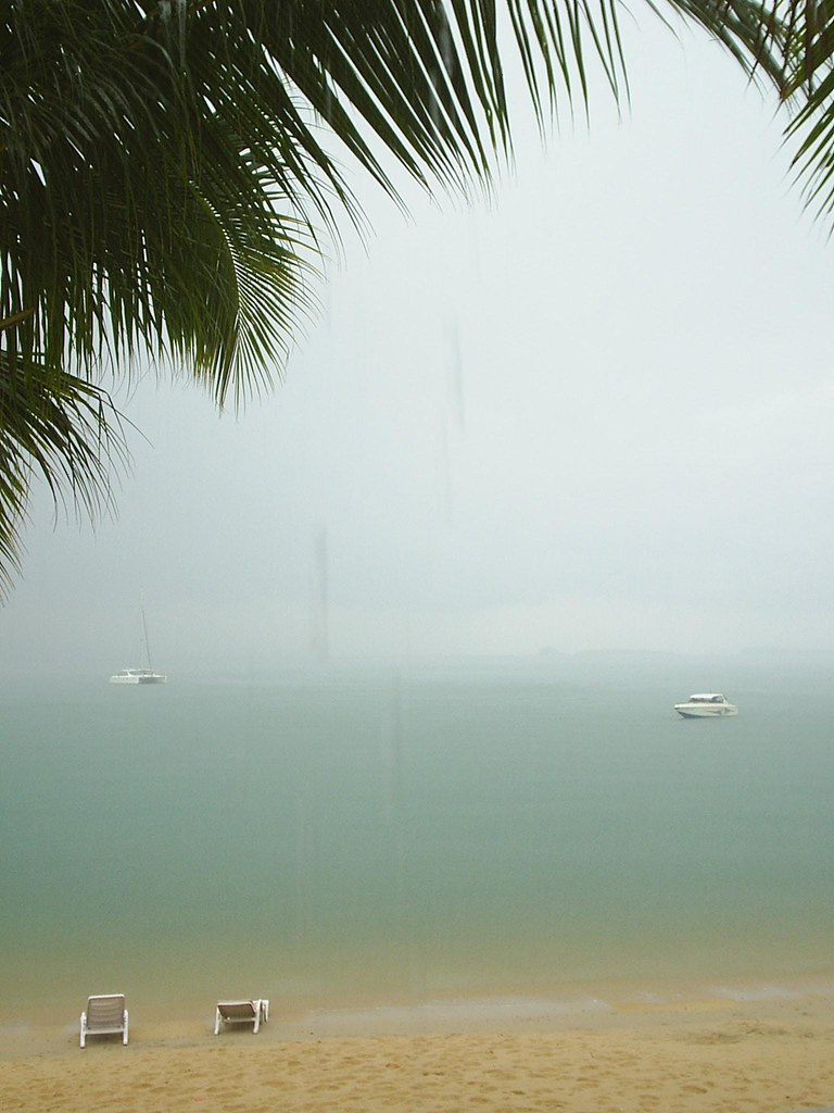 Rainy day on Bophut Beach, Ko Samui, Thailand
