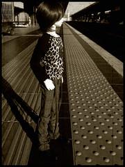 :: Ishihara Hajime :: (Bunraku Doll) Tags: boy station train doll head bjd 人形 dollfie superdollfie volks 電車 redhair fcs 駅 ws hajime ishihara f17 一 sd13 whiteskin 少年 石原