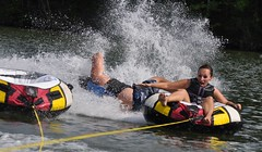 "Falling 2 (""On the Rox"") Tags: waterskiing watersports tubing slalom lakemartin slalomcourse"