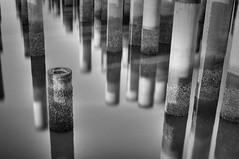 pilarsbythesea (sundewara, The Dark) Tags: urban bw motion slowshutter blackdiamond flickraward
