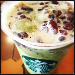 (.  .) Tags: phonecam noflash starbucks friday greentea redbeans iphoneography dcfilm hipstamatic iphone4s loftuslens