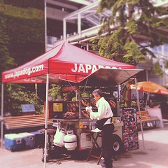 Dad @Japadog (CanadaPenguin) Tags: square squareformat 1977 iphoneography instagramapp uploaded:by=instagram foursquare:venue=4fa312e8e4b07d3f492430c1