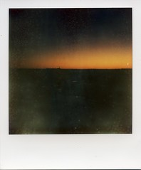 POLAROID- SUNSET LA PAROUSE (Eva Flaskas) Tags: camera sunset color film water bar project polaroid one la box flash sydney mint step shade instant pioneer impossible parouse px680