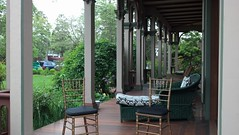 Southern Mansion Front Porch; chairs where we sat for ceremony (nayaradha) Tags: wedding violin capemay southernmansion flickrandroidapp:filter=none