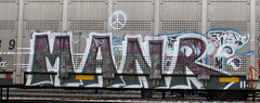 Manr (Prof. Mortus DeNali) Tags: street art bench graffiti paint tag caps piece burner bomb freight throw krylon autorack rusto ironlak manr