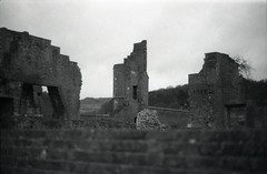 Ruins 2 (happyforest91) Tags: blackandwhite castle film monochrome landscape ruins mansion manor statelyhome delapidated