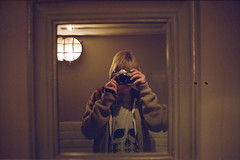 (333Bracket) Tags: camera portrait reflection london film girl self 35mm skull mirror analogue 333bracket canonae128mmf28