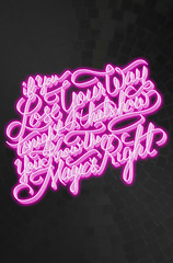 Daft Punk - Doin' It Right - Lettering (d.r3sto) Tags: art typography design neon glow lettering daftpunk davidrestocom