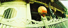 Longshan Temple (ulanalee) Tags: travel film 35mm lomo xpro lomography crossprocessed asia horizon taiwan taipei  horizonperfekt