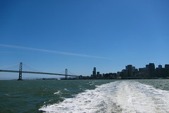 away on a ferry (idontkaren) Tags: sanfrancisco bridge water ferry skyline bay ride baybridge sausalito