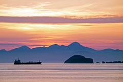 Tanker Going up the Minch (Elmer Duck) Tags: sunset skye minch tanker duntulm zuiko50200mm olympuse3