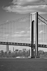 Verrazano Narrows Bridge (glidergoth) Tags: usa ny newyork mono sailing harbour yacht manhattan nj verrazanonarrowsbridge