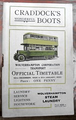Wolverhampton Corproation Bus Timetable from December 1929 (Lady Wulfrun) Tags: bus guy transport timetable dodson 1929 wolverhampton btx wolverhamptoncorporation wolverhamptonsteamlaundry caddocksboots