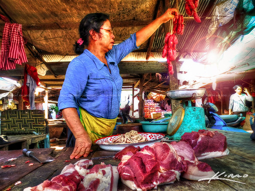 Getting-Some-Pork-at-the-Market-in-Cambodia