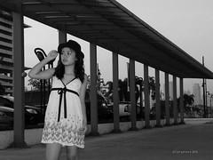 CONVERGING LINES (portrait) (ariel gitana) Tags: portrait blackandwhite monochrome bokeh candid philippines wideangle telephoto pinay pinoy marketmarket serendra bridgecamera kodakero teampinas nikonp100 bonofacioglobalcity