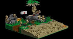 Wind Talkers scene_Austin (Florida Shoooter) Tags: japan lego ww2 saipan ldd windtalkers type95hago type96model1triplemount25mmaaatgun