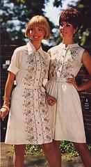 Spiegel 69 SS white dresses (jsbuttons) Tags: 1969 fashion vintage clothing mod 60s buttons spiegel clothes button catalog sixties