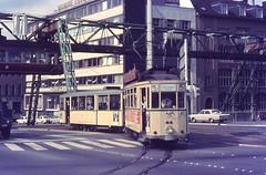Once upon a time - Germany - Wuppertal (railasia) Tags: germany monorail sixties schwebebahn wsw wuppertalelberfeld metergauge routenº5 motorcartrailer lostsystem