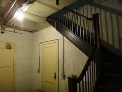 Stairs at Allied arts building (DieselDucy) Tags: stairs elevator basement lynchburg roanoke alliedartsbuilding cannycart cannycartmeetup2011